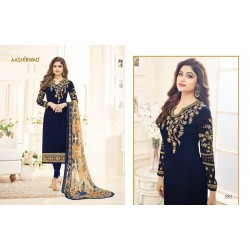 Georgette Salwar Kameez with Embroidery
