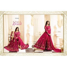 Gorgeous Designer Anarkalis with Floral Embroidery