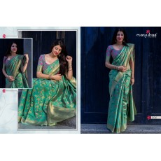 Handloom Silk Sarees with Floral Embroidery
