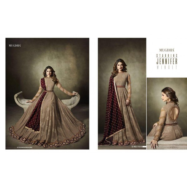 Beautiful-Self-Jacquard-Designer-Anarkali-Suit-11019