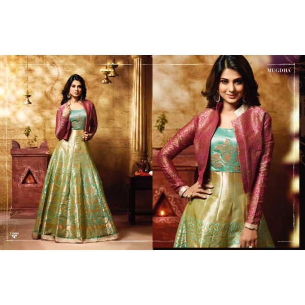 Pretty Zari Kalidaar Suit with Jacket-11009