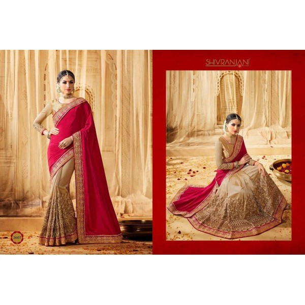Pink-and-Beige-Embroidered-Ethnic-Saree-2607