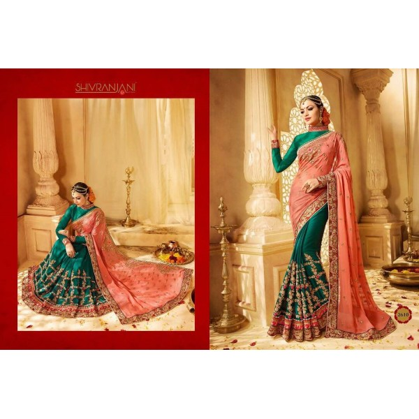Peach-and-green-designer-saree-with-embroidery-2610