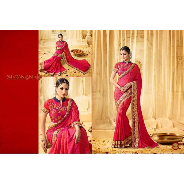 Pink-Party-wear-Designer-Saree-with-embroidery-2611
